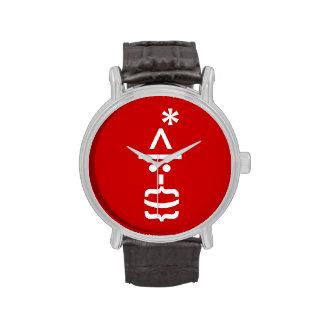 Papá Noel con el Emoticon del smiley del navidad Reloj