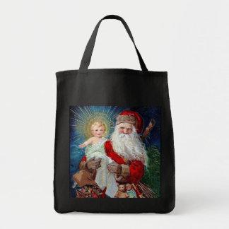 Papá Noel con el niño de Cristo Bolsas