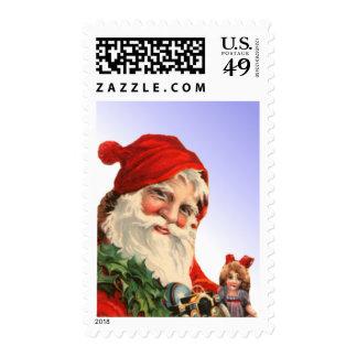 Papá Noel con el sello de los juguetes