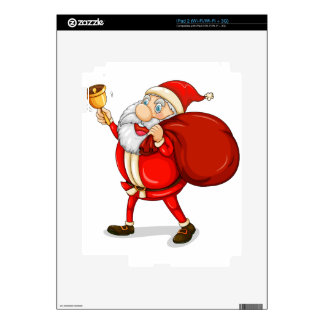 Papá Noel con el suyo saco por completo de regalos Calcomanías Para El iPad 2