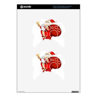 Papá Noel con el suyo saco por completo de regalos Mando Xbox 360 Skin