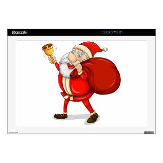 Papá Noel con el suyo saco por completo de regalos Skins Para 43,2cm Portátil