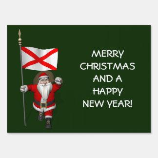 Papá Noel con la bandera de Alabama Cartel