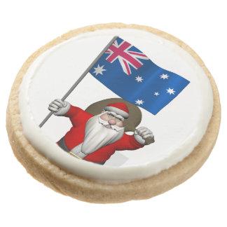 Papá Noel con la bandera de Australia