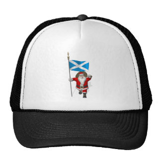 Papá Noel con la bandera de Escocia Gorras De Camionero