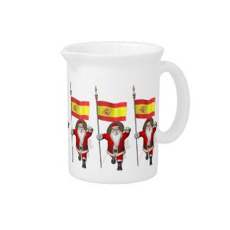 Papá Noel con la bandera de España Jarrón