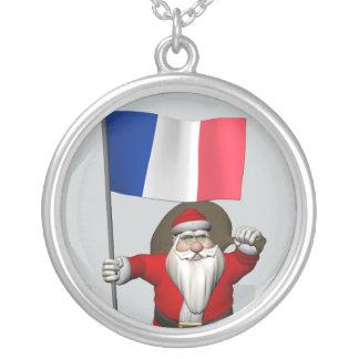 Papá Noel con la bandera de Francia Joyeria