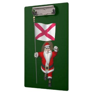 Papá Noel con la bandera de Irlanda del Norte