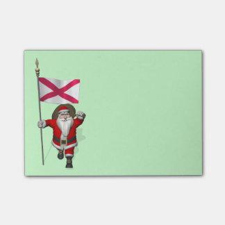 Papá Noel con la bandera de Irlanda del Norte Post-it Nota