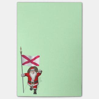 Papá Noel con la bandera de Irlanda del Norte Notas Post-it