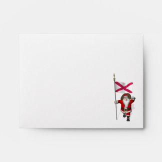 Papá Noel con la bandera de Irlanda del Norte Sobres