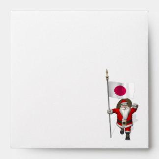 Papá Noel con la bandera de Japón