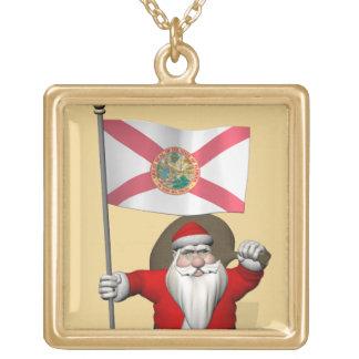 Papá Noel con la bandera de la Florida Colgante Personalizado