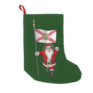 Papá Noel con la bandera de la Florida