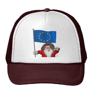 Papá Noel con la bandera de la unión europea Gorra
