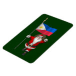 Papá Noel con la bandera de las Filipinas Iman Rectangular