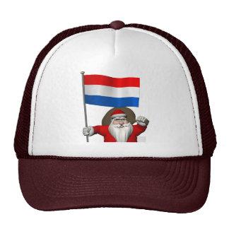 Papá Noel con la bandera de los Países Bajos Gorro De Camionero