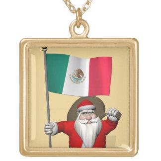 Papá Noel con la bandera de México Joyería