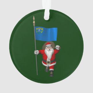 Papá Noel con la bandera de Nevada