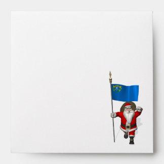 Papá Noel con la bandera de Nevada Sobres