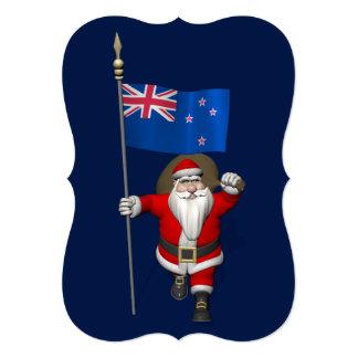 Papá Noel con la bandera de Nueva Zelanda Comunicados Personalizados