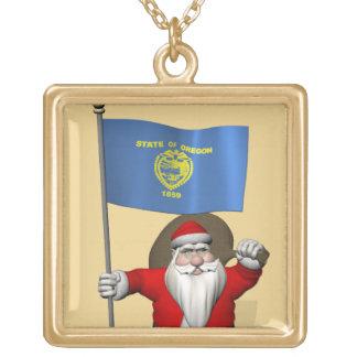 Papá Noel con la bandera de Oregon Joyerías