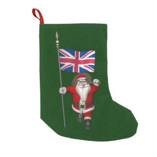 Papá Noel con la bandera de unión del Reino Unido