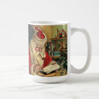 Papá Noel con la taza de café de la impresión del
