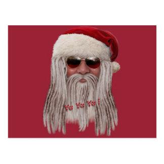 Papá Noel con las sombras y teme Postales