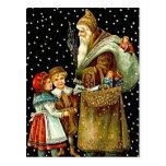 Papá Noel con los niños Postales