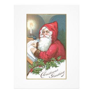 Papá Noel con los ojos azules Membrete