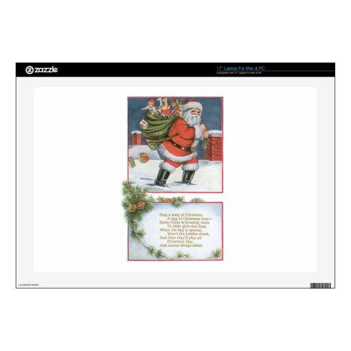 Papá Noel con los presentes Skins Para Portátiles