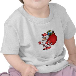 Papá Noel con los regalos Camisetas