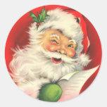 Papá Noel con un guiño Pegatina