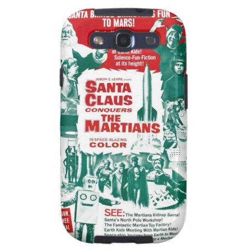Papá Noel conquista los Martian Galaxy S3 Cárcasa