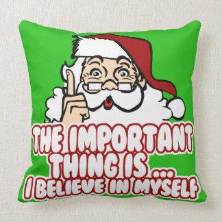 Papá Noel cree en sí mismo Cojines