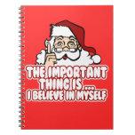 Papá Noel cree en sí mismo Libreta