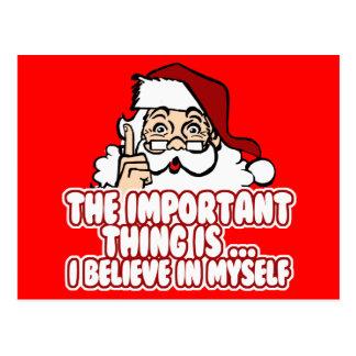 Papá Noel cree en sí mismo Tarjeta Postal