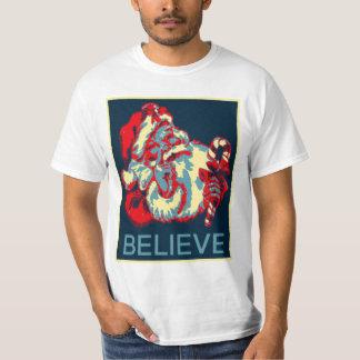 Papá Noel cree la camisa del poster de Obama