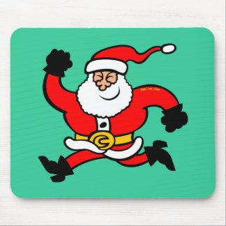 Papá Noel de funcionamiento Mouse Pads