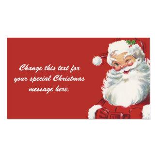 Papá Noel de guiño alegre, navidad del vintage Tarjetas De Visita