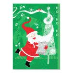 Papá Noel del navidad del vintage, del canto y del Invitación