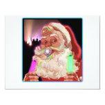 Papá Noel delira al raver divertido de Santa Invitación 10,8 X 13,9 Cm