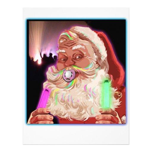 Papá Noel delira al raver divertido de Santa ningú Membrete Personalizado