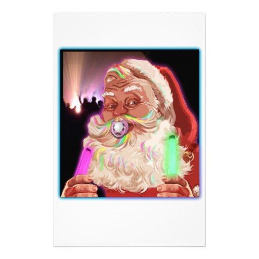 Papá Noel delira al raver divertido de Santa ningú Papelería Personalizada