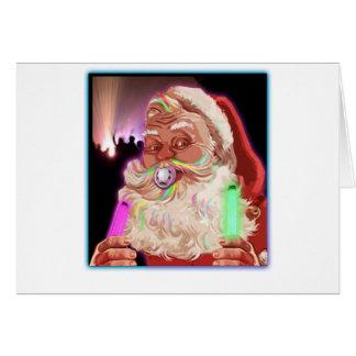 Papá Noel delira al raver divertido de Santa ningú Tarjeton