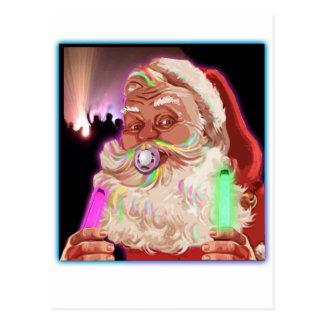 Papá Noel delira al raver divertido de Santa ningú Postal