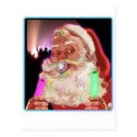Papá Noel delira al raver divertido de Santa Postal
