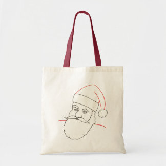 Papá Noel, dibujo de esquema, lona del colorante e Bolsa Tela Barata