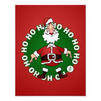 """Papá Noel dice Ho Ho Ho para el navidad Invitación 4.25"""" X 5.5"""""""